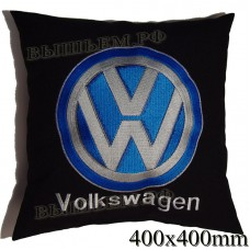 Cushion with embroidered logo and lettering in a VOLKSWAGEN saloon car, size and choose color in the options