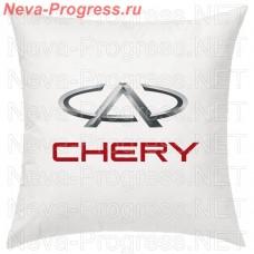 Подушка с вышитым логотипом и надписью CHERRY в салон автомобиля, размер и цвет выбирайте в опциях