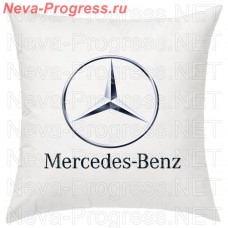 Pillow with an embroidered logo and the words MERCEDES-BENZ in the interior of the car, size and choose color in the options