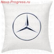 Подушка с вышитым логотипом MERCEDES-BENZ в салон автомобиля, размер и цвет выбирайте в опциях