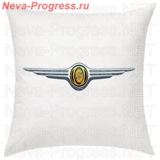 Pillow with an embroidered logo of CHRYSLER in the interior of the car, size and choose color in the options