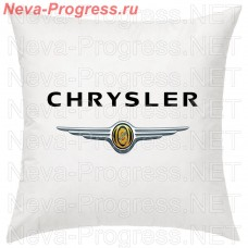 Cushion with embroidered logo and lettering CHRYSLER in the interior of the car, size and choose color in the options