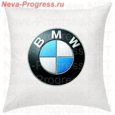 Подушка с вышитым логотипом BMW в салон автомобиля, размер и цвет выбирайте в опциях