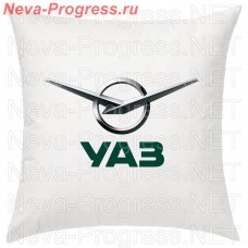 Cushion with embroidered logo and lettering UAZ in the interior of the car, size and choose color in the options