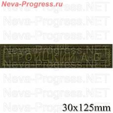 Нашивка полоска нагрудная ФАМИЛИЯ И.О. (полевая форма одежды) размер 120мм Х 30 мм