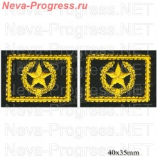 Patch badge army (yellow embroidery on olive) price for a pair of button holes