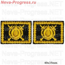Patch buttonholes of Internal troops, Asgardia, the National guard of Ukraine (yellow embroidery on black) price per pair of button holes