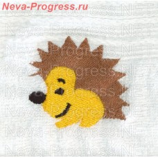 Towel with embroidery Hedgehog sizes and colors in stock