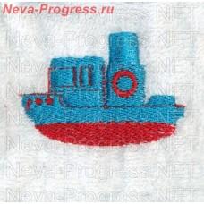 Полотенце с вышивкой катера   размеры и цвета в ассортименте