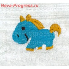 Towel embroidered pony sizes and colors in stock