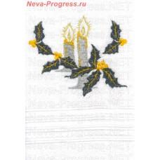 Полотенце с вышивкой  свечи  размеры и цвета в ассортименте