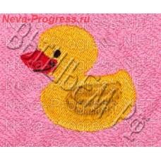 Полотенце с вышивкой  утёнка  размеры и цвета в ассортименте
