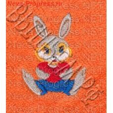 Полотенце с вышивкой  зайчика  размеры и цвета в ассортименте