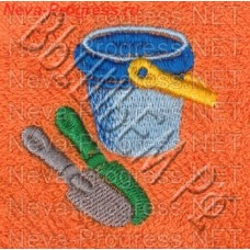 Полотенце с вышивкой  ведёрка  размеры и цвета в ассортименте