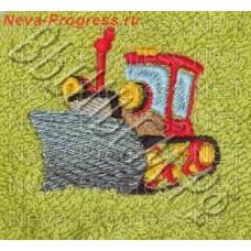 Полотенце с вышивкой  трактора  размеры и цвета в ассортименте