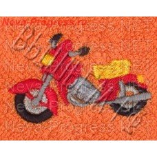 Полотенце с вышивкой  мотоцикла  размеры и цвета в ассортименте