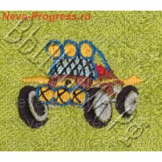 Towel with embroidery sports car the sizes and colors in stock
