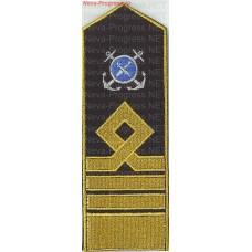 Погоны (наплечные знаки) гражданского рыболовного флота России. Вышивка эмблем металлизированной и вискозной нитью. Цена за пару