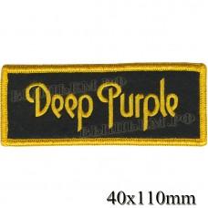 НашивкаРОК атрибутика Deep Parple оверлок, черный фон, липучка или термоклей.