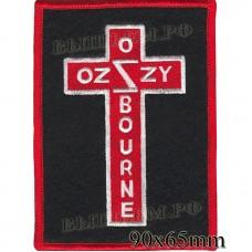 """Нашивка РОК атрибутика """"OZZY OZBOURNE"""" оверлок, черный фон, липучка или термоклей."""