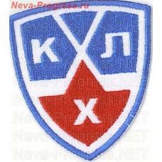 Шеврон КХЛ (Континентальная Хоккейная Лига (треугодьный, белый фон)