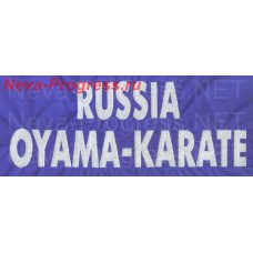 Chevron on the back of RUSSIA OYAMA-KARATE