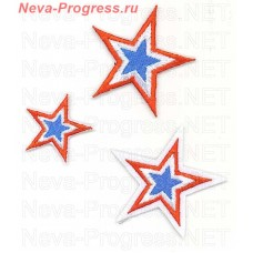 Set of chevrons stars SKA (Army Sports club) on a white background 3 pieces