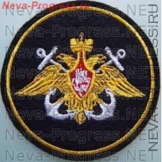 Нашивка ВМФ желтый орел,белые якоря