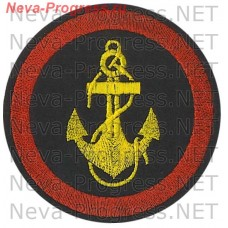 Patch Marines. Yellow anchor. Red piping covering thread