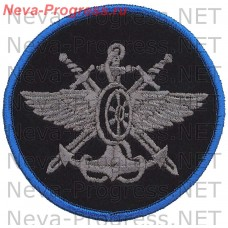 Patch Service and military posts, silk