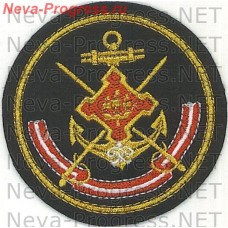Badge of the Leningrad naval base (round)