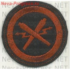 Stripe Navy round, red on a black background. Rocket-artillery warhead warhead-2