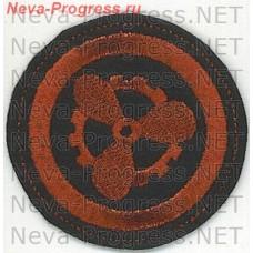 Нашивка ВМФ круглый, красный на черном фоне Электро-механическая боевая часть БЧ-5