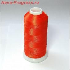 Нитки для вышивки из полиэстера. Цвет оранжевый.