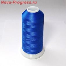 Нитки для вышивки полиэстер цвет синий 3600