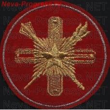 Нашивка Главное кадровое управление образца 2003 года красный фон