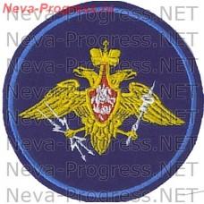Нашивка Космических войск России круглый образца до 2012 года