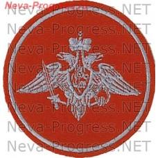 Нашивка Армии России круглый серая нить образца до 2012 года