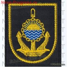 Нашивка Тихоокеанский флот (черный фон, желтый кант)