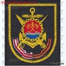 Patch 36 brigade of missile boats of the Baltic Fleet, Baltiysk on black cloth for everyday forms