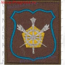 Нашивка Управление военных представительств ВВС Минобороны России на оливковом фельте для повседневной формы, оверлок