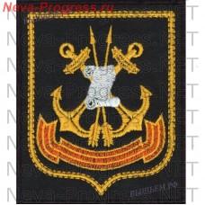 Нашивка 45-й Государственный центральный морской испытательный полигон Военно-морского флота «Нёнокса», в составе Беломорской ВМБ