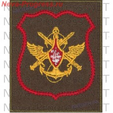 Нашивка Управления Сухопутных войск с красным кантом на оливковом сукне для повседневной ормы