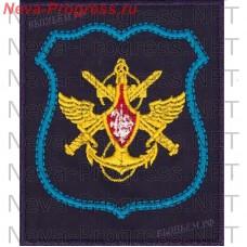 Нашивка Управления Военно Воздушных Сил (голубой кант) на темно-синем габардине для повседневной формы