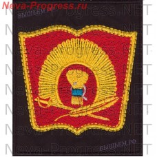 Patch Ussuri Suvorov military school (USWU) Ussuriisk (red book on the black background)