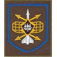 Нашивка 332-го радиотехнического полка, или в/ч 21514 г. Петрозаводск  (оливковый фон и голубой кант)