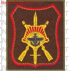 Нашивка 68 армейский корпус Восточный Военный Округ город Южно-Сахалинск (оливковый фон, красный кант)