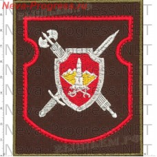 Patch Military Police of the Central military district (olive background, red edging)