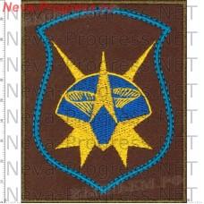 Нашивка 2-я отдельная инженерно-испытательная часть (2 ОИИЧ) (в/ч 30107) оливковый фон, голубой кант