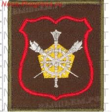 Нашивка Военного Представителя МО РФ (оливковый фон, красный кант)